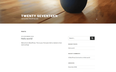 Template WordPress Twenty Seventeen